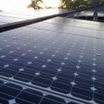 array on top of solar shop
