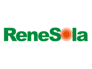 green and red logo of leading solar supplier Renesola