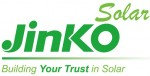 Logo of global solar heavyweight Jinko Solar, with green text and white background